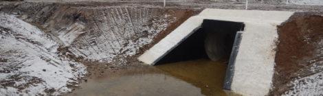 В Киришском районе Ленинградской области завершены работы по реконструкции межхозяйственных каналов